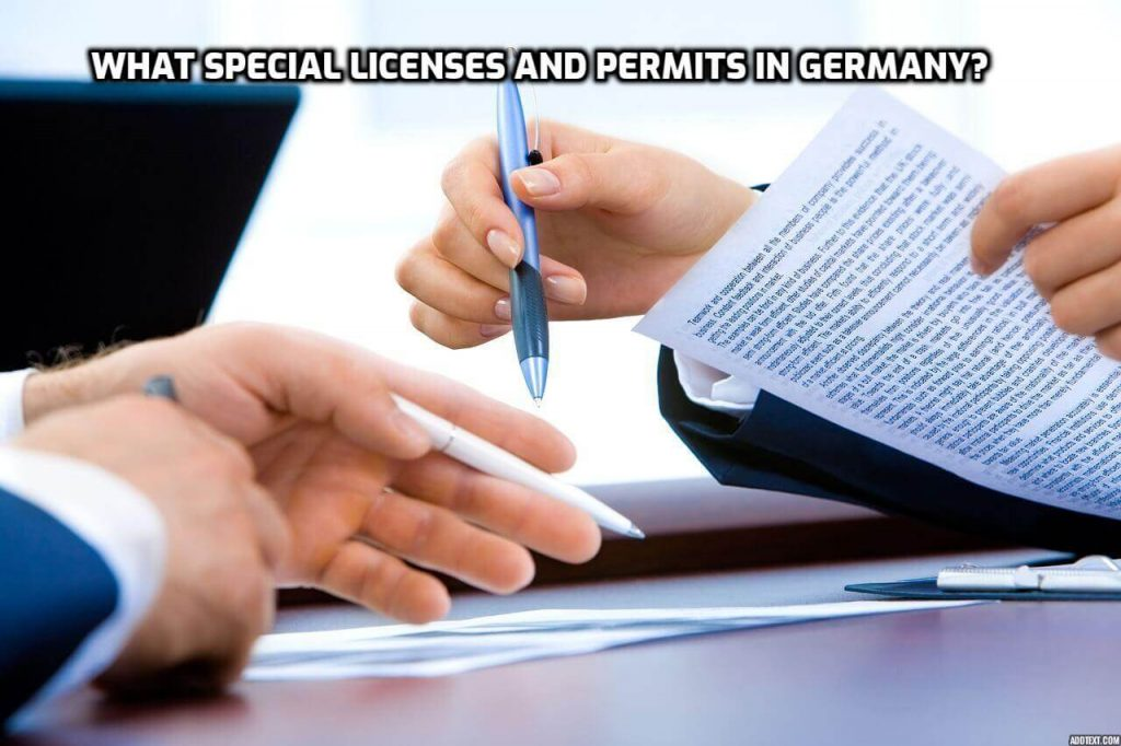 What Special Licenses and Permits in Germany?